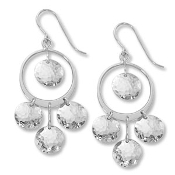 Sterling Silver Swinging Disc Earrings