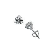 1/2 CTW MARTINI STYLE DIAMOND STUD EARRINGS