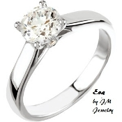 "14KW 1CT Solitare Engagement Ring ""EVA"""