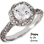 "14KT 1 1/2ctw Diamond Engagement Ring ""Poppy"""