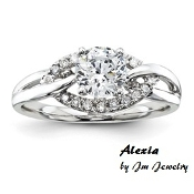 "14KTW 3/4CT Round Diamond Engagement Ring ""Alexia"""