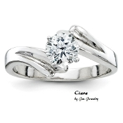 """Ciara"" Simply Elegant 14KT Solitare 1/3ct Diamond Ring"