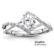 """Josephine"" 14KT 1/3CT Round Brilliant Diamond Engagement Ring"