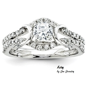 """Lily"" 14KT Exquisite 1CTW Round Diamond Engagment Ring"