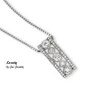 Sterling Silver & Lab Created Diamonds Brilliant Necklace