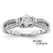 """Mariabelle"" 14KT 1/2ctw Round Brilliant Engagement Ring"